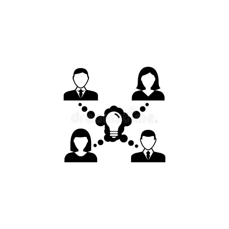 Het Vlakke Vectorpictogram van het samenwerkingsidee stock illustratie