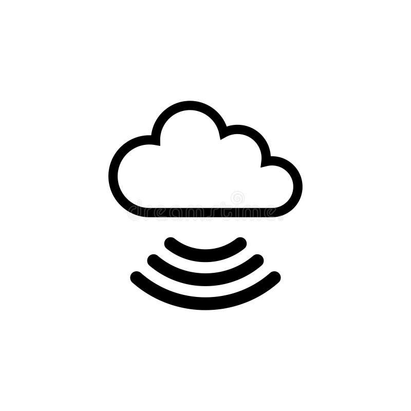 Het Vlakke Vectorpictogram van wolkenwifi stock illustratie