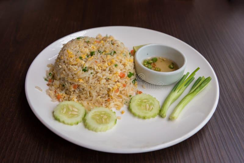 Het vlees gebraden rijst van de krab royalty-vrije stock foto