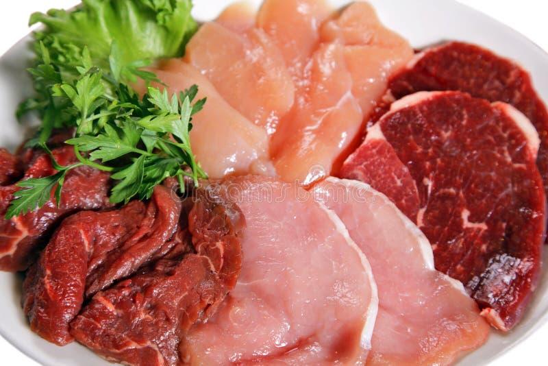 Het vlees van de rij stock afbeelding