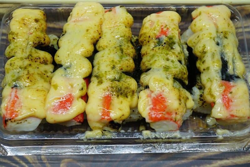 Het vlees van de sushikrab royalty-vrije stock afbeelding