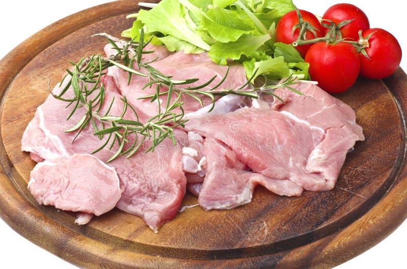 Het vlees van het kalfsvlees stock foto's