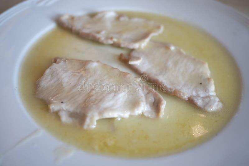 Het vlees van het Scaloppinakalfsvlees stock afbeeldingen