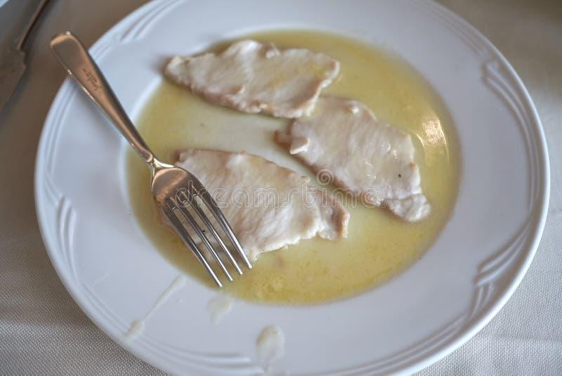 Het vlees van het Scaloppinakalfsvlees royalty-vrije stock afbeelding