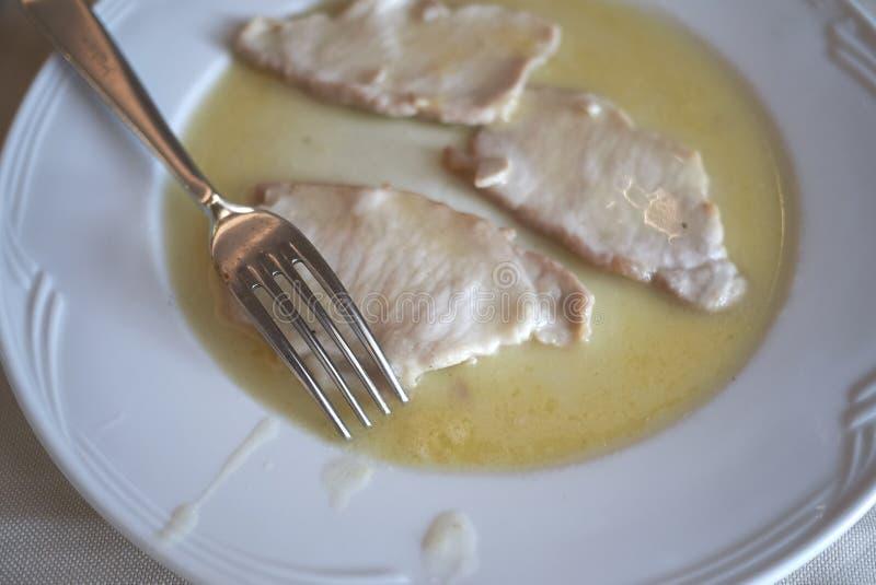 Het vlees van het Scaloppinakalfsvlees royalty-vrije stock foto
