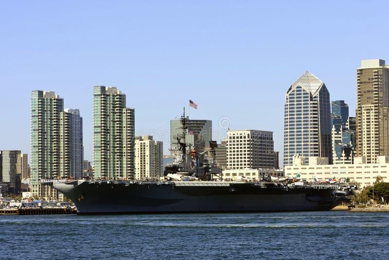 Het Vliegdekschip van de Marine van de V.S. stock foto's