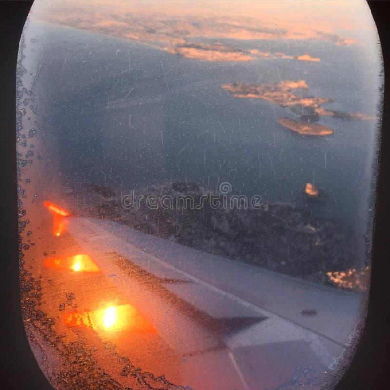 Het vliegen aan Italië stock fotografie
