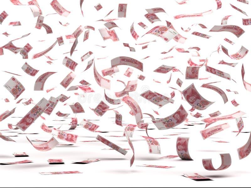 Het vliegen Chinese Yuans vector illustratie