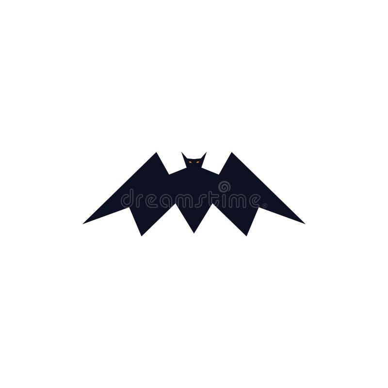 Het vliegen concept van het knuppel het gewaagde embleem royalty-vrije illustratie