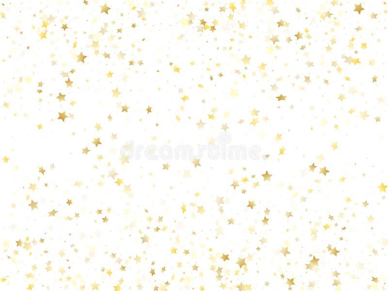 Het vliegen de gouden vector van de sterfonkeling met witte achtergrond royalty-vrije illustratie