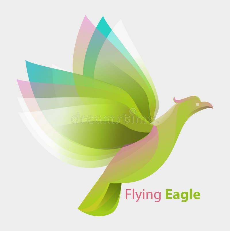 Het vliegen Eagle royalty-vrije illustratie