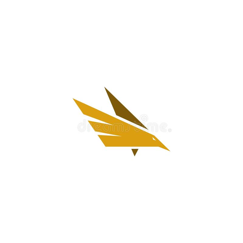 Het vliegen het embleem vector eenvoudig ontwerp van het Vogelpictogram royalty-vrije illustratie