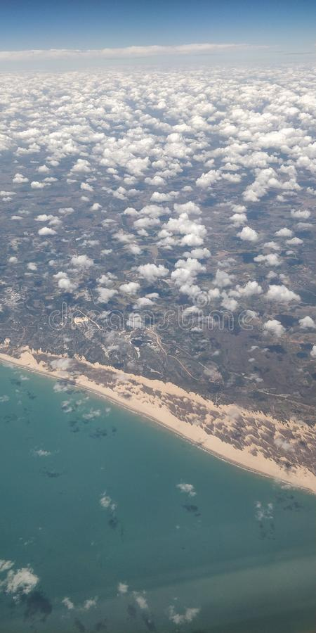 Het vliegen en het het weten Recife royalty-vrije stock afbeelding