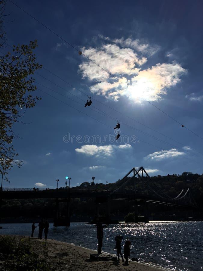 Het vliegen hoog in Kiev royalty-vrije stock foto