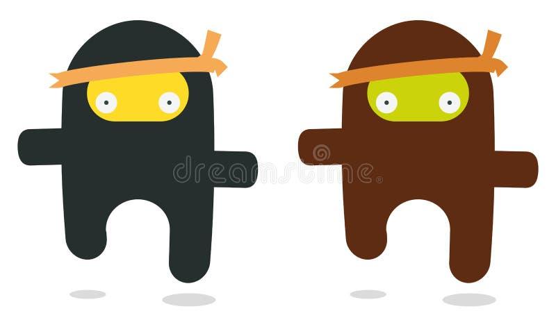 Het vliegen ninjas royalty-vrije illustratie