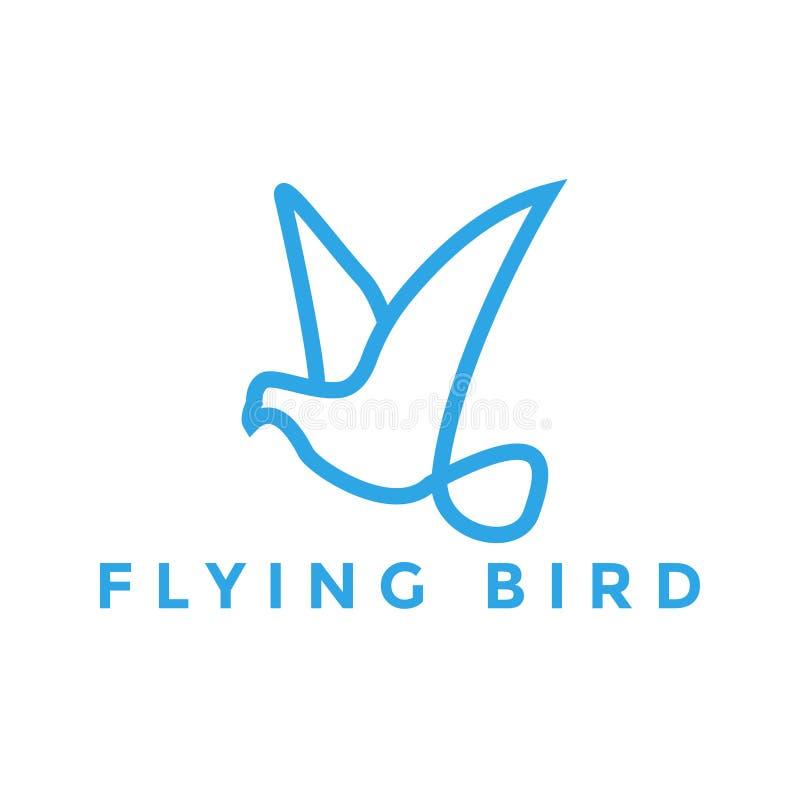 Het vliegen het ontwerpinspiratie van het vogelembleem stock illustratie