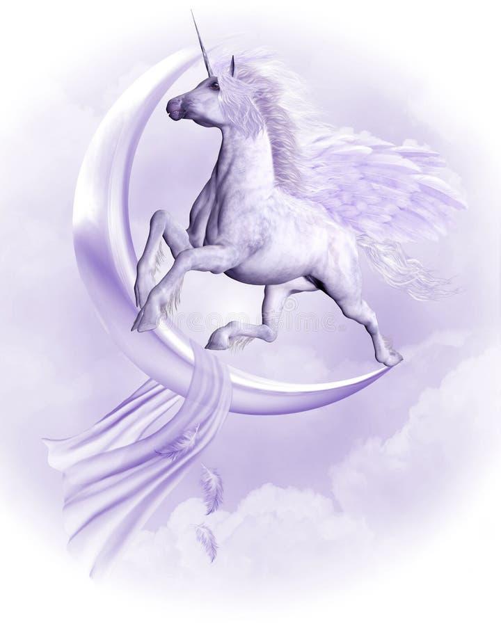 Het vliegen Pegasus royalty-vrije illustratie