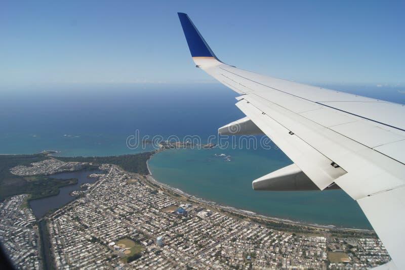 Het vliegen in Puerto Rico royalty-vrije stock foto's