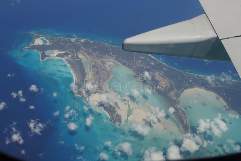 Het vliegen in Puerto Rico royalty-vrije stock afbeeldingen