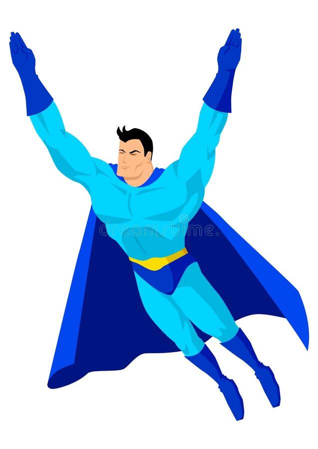Het vliegen Superhero vector illustratie