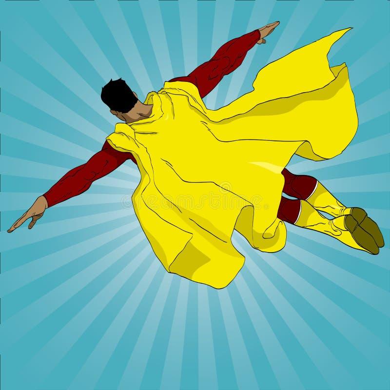 Het vliegen superhero royalty-vrije illustratie