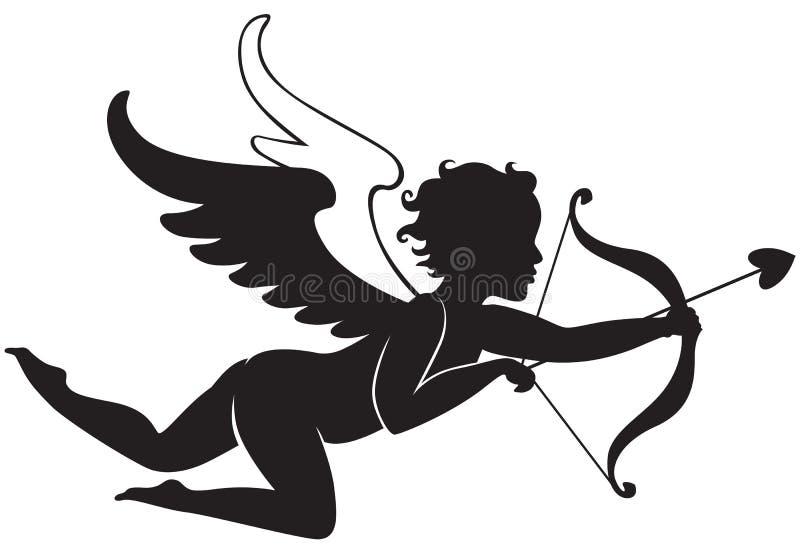Het vliegen van de Cupido vector illustratie
