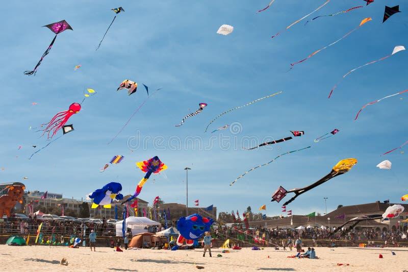 Het vliegen van de vlieger festival royalty-vrije stock foto