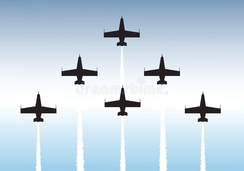 Het vliegen van de vorming stock illustratie