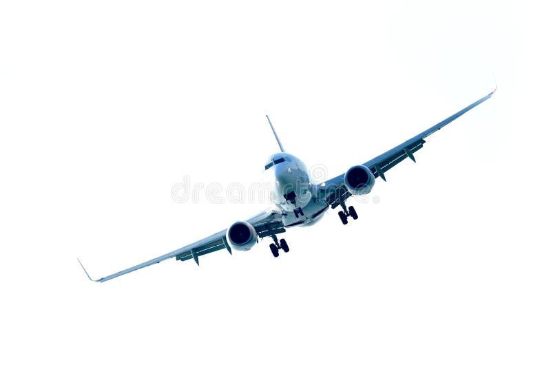 Het vliegen van het vliegtuig stock foto's