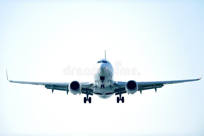 Het vliegen van het vliegtuig royalty-vrije stock fotografie