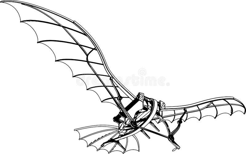 Het vliegen Vector 01 van de Machine stock illustratie