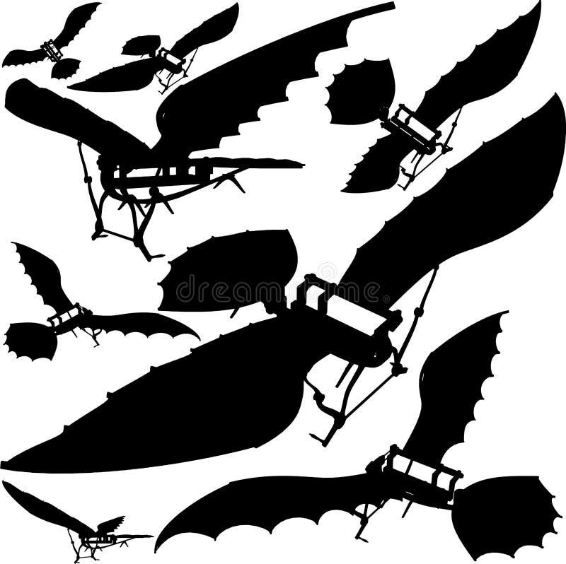 Het vliegen Vector 03 van de Machine royalty-vrije illustratie