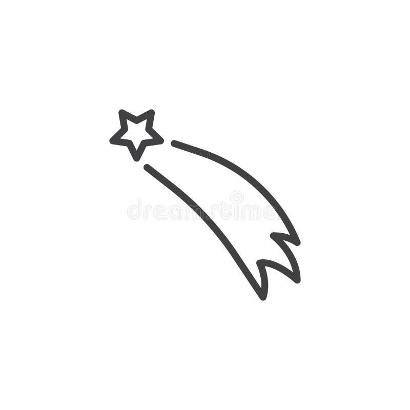 Het vliegende pictogram van de sterlijn royalty-vrije illustratie