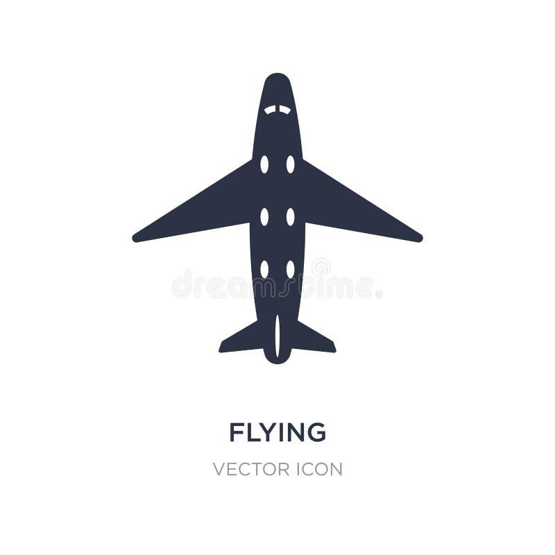 het vliegende pictogram van de vliegtuig hoogste mening op witte achtergrond Eenvoudige elementenillustratie van Vervoerconcept royalty-vrije illustratie