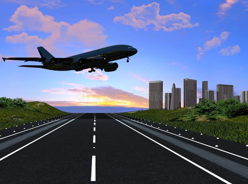 Het vliegtuig vector illustratie