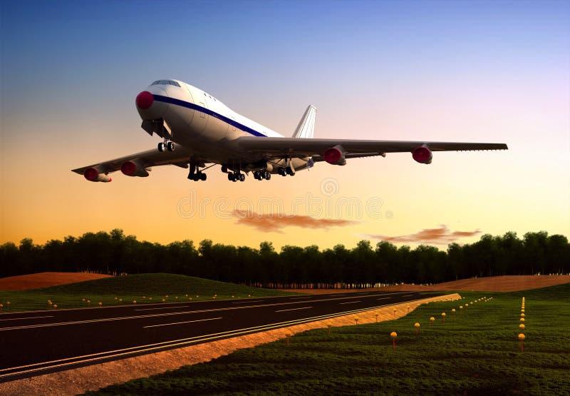 Het vliegtuig stock illustratie