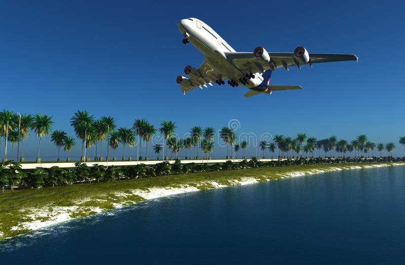 Het vliegtuig royalty-vrije illustratie