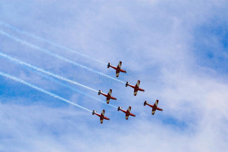 Het vliegtuig toont in Australië royalty-vrije stock foto's