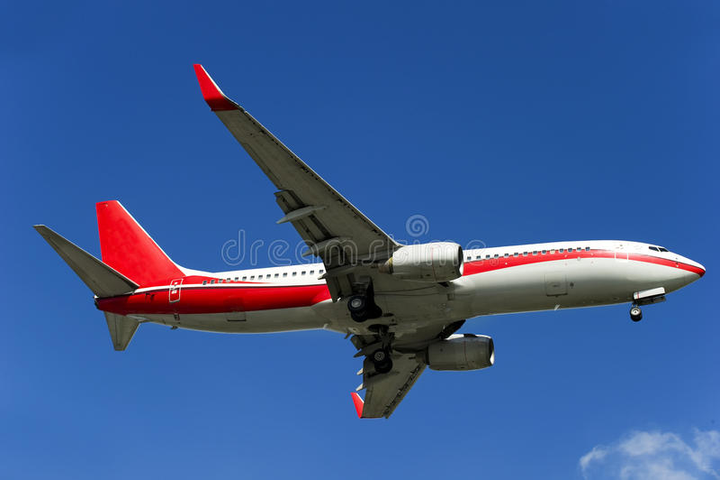 Het vliegtuig van BOEING 737-800 stock foto's
