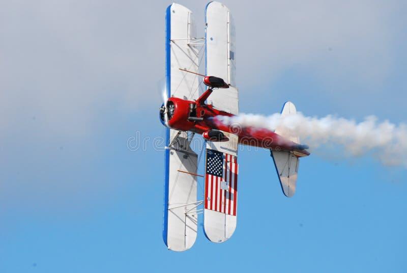 Het Vliegtuig van de bi-vleugelstunt royalty-vrije stock foto