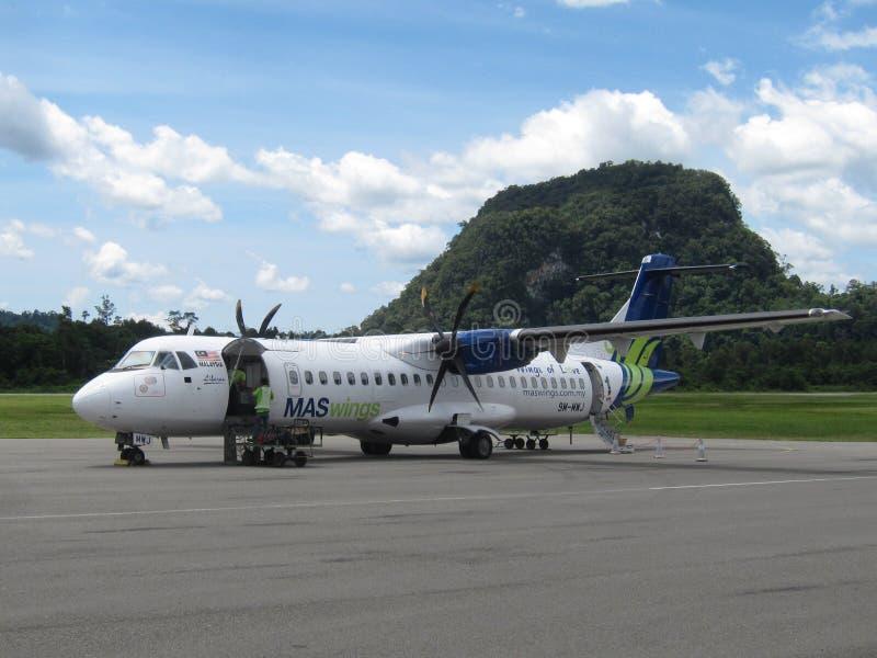 Het vliegtuig van de MASwingsschroefturbine stock afbeelding