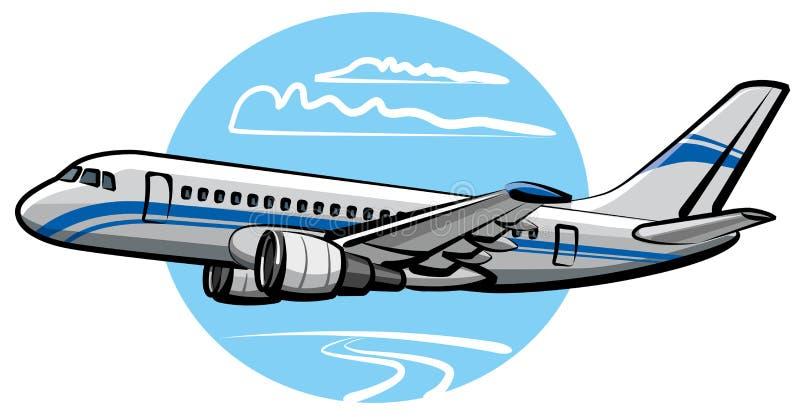 Het vliegtuig van de passagier royalty-vrije illustratie