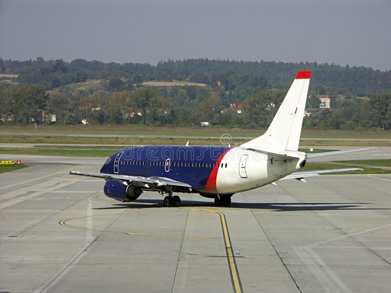 Het vliegtuig van de passagier royalty-vrije stock foto
