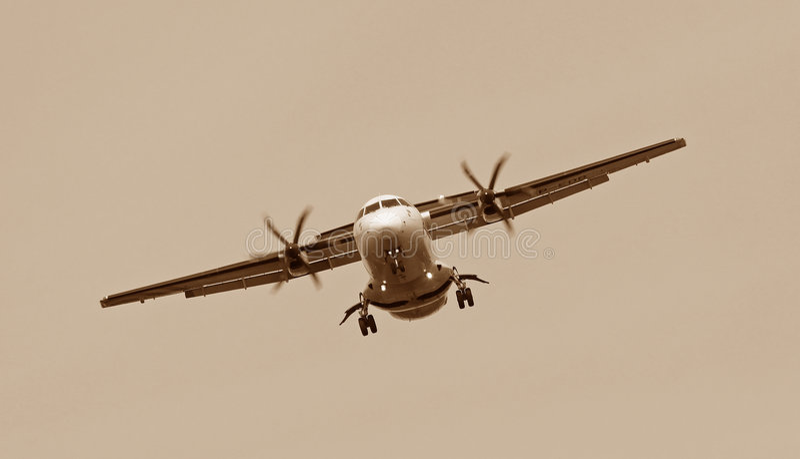 Het vliegtuig van de propeller royalty-vrije stock foto's