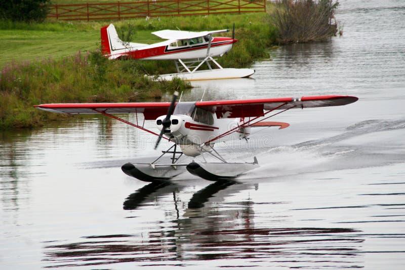 Het Vliegtuig van de Vlotter van Alaska royalty-vrije stock foto's