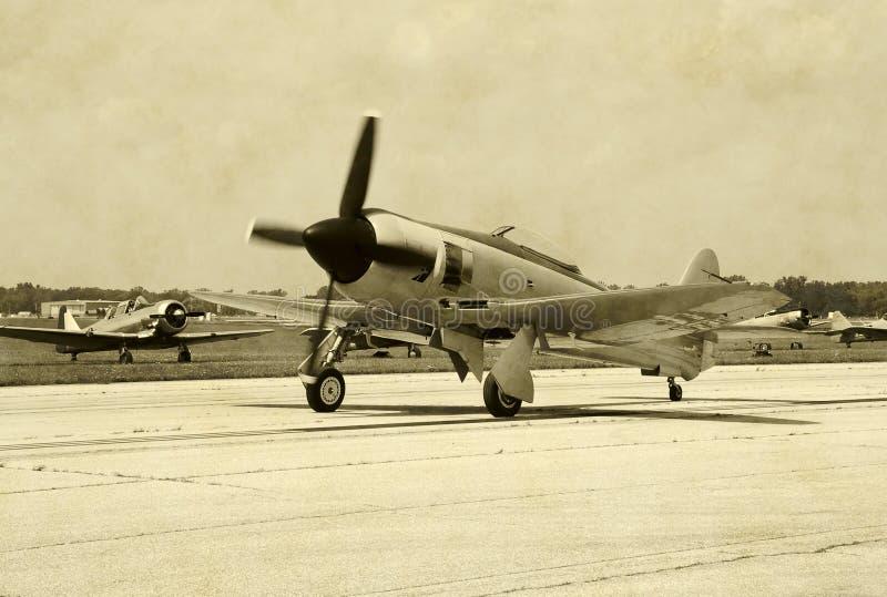 Het vliegtuig van de Wereldoorlog II royalty-vrije stock fotografie