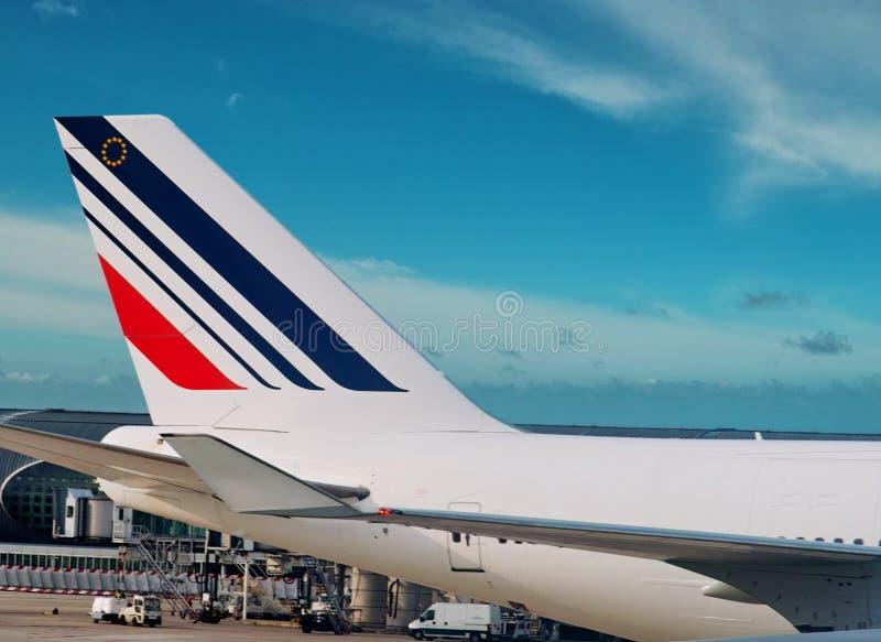 Het vliegtuig van Frankrijk van de lucht. stock afbeelding