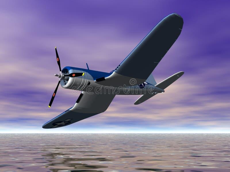 Het Vliegtuig van het bankwezen stock illustratie