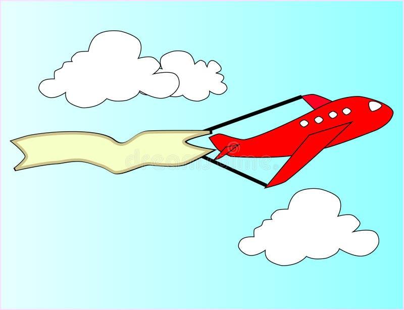 Het vliegtuig van het beeldverhaal royalty-vrije stock afbeelding