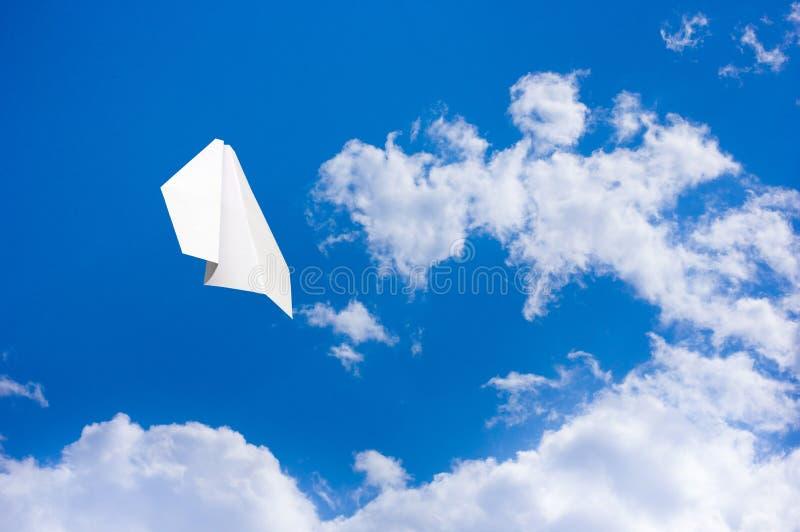 Het vliegtuig van het document royalty-vrije stock foto